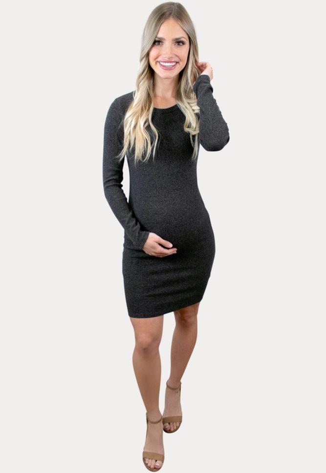 ribbed maternity dress