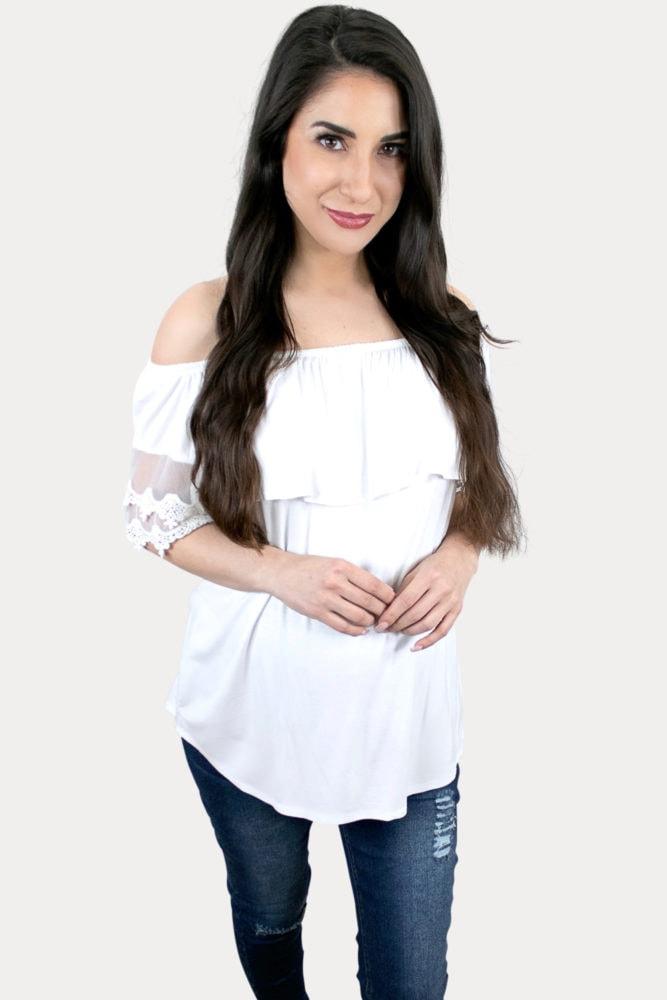 white maternity shirt