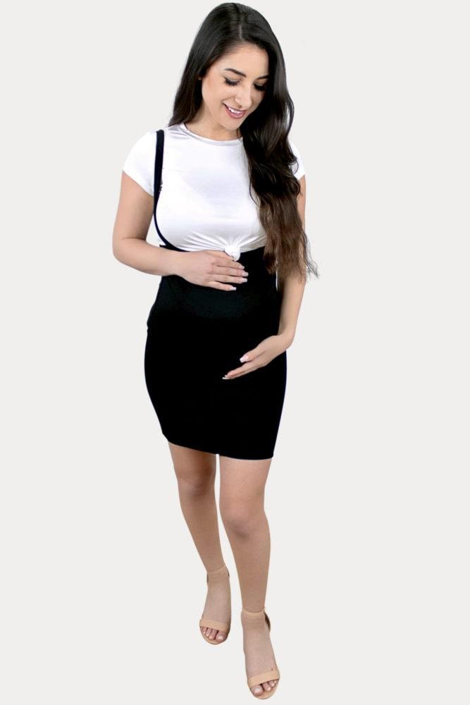 maternity suspender skirt
