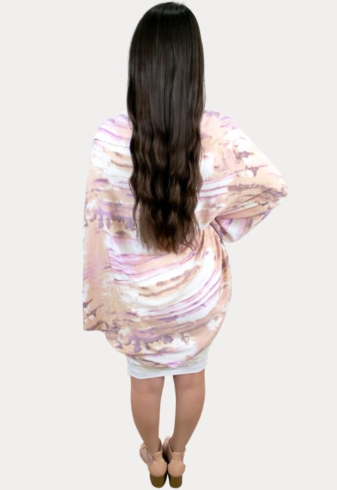 stylish tie dye maternity cardigan