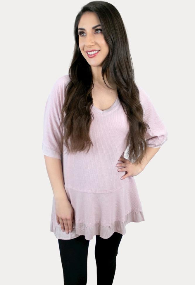 pink maternity tee