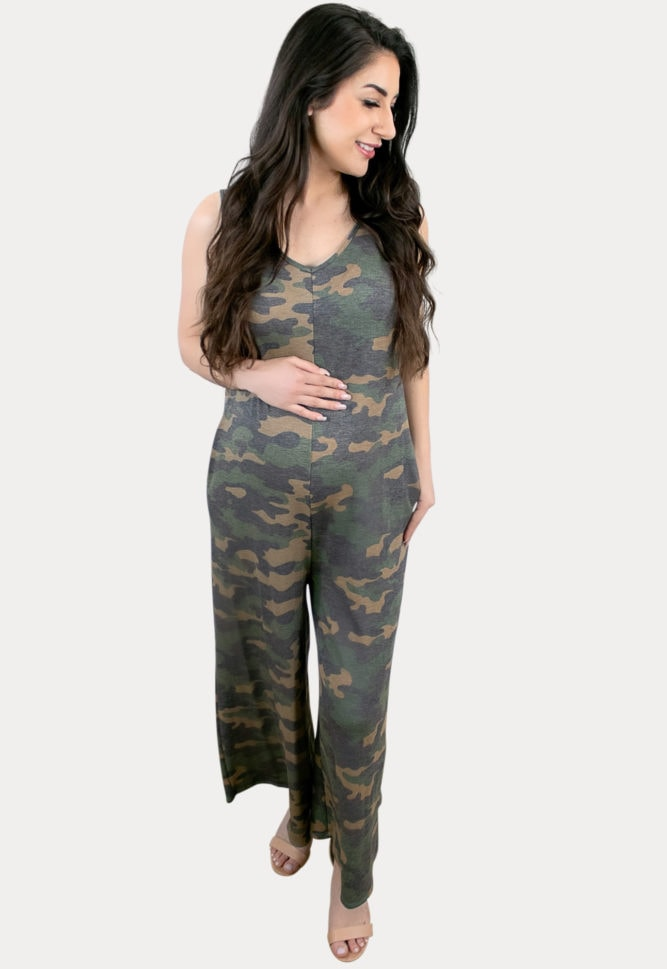 camo maternity jumper