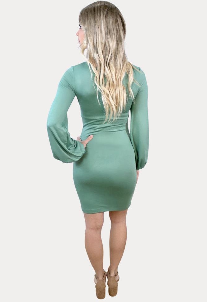 bishop sleeve maternity dress