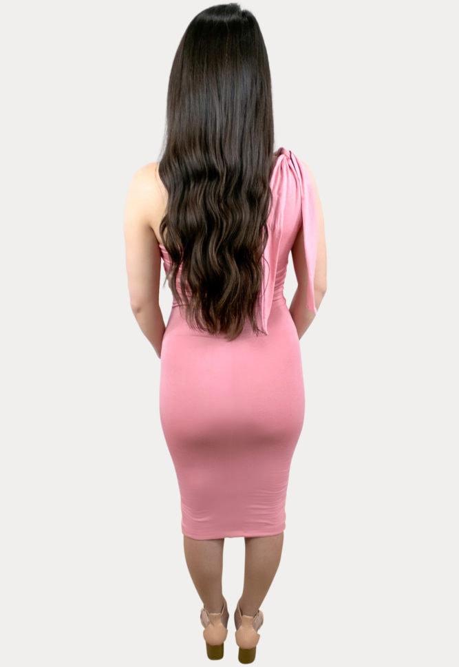 single shoulder pregnancy dress