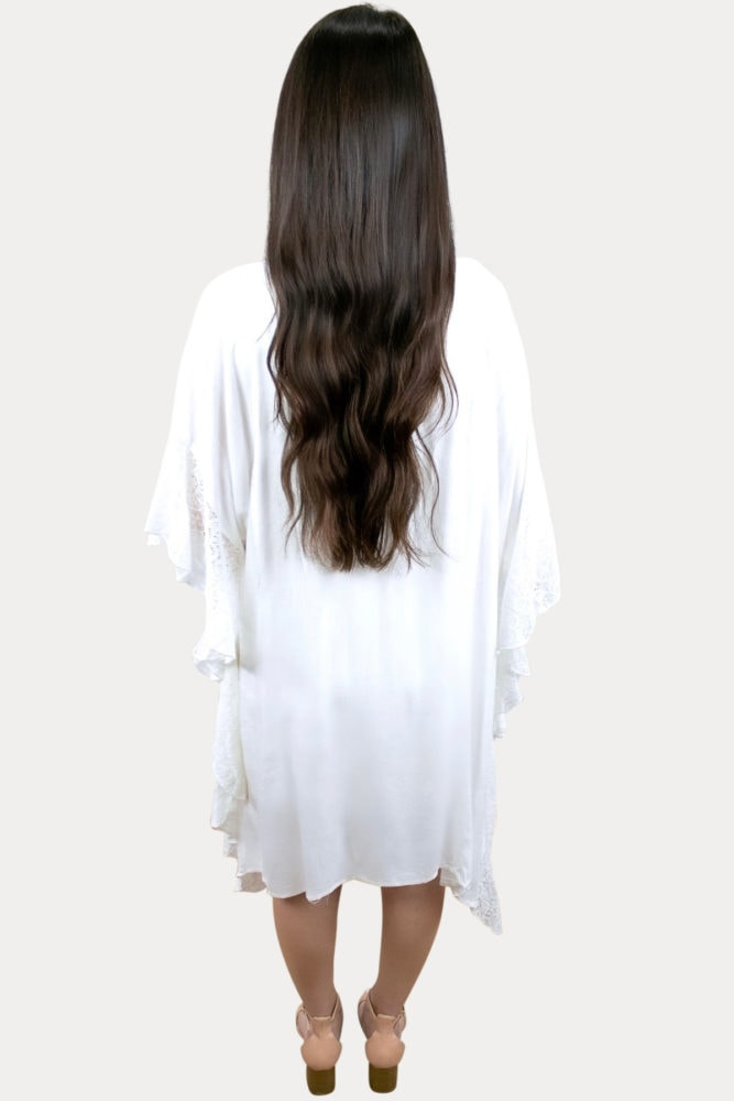 white pregnancy cardigan
