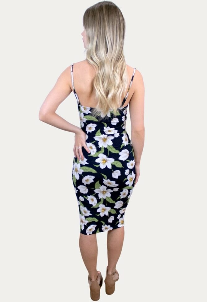 floral cowl maternity dress