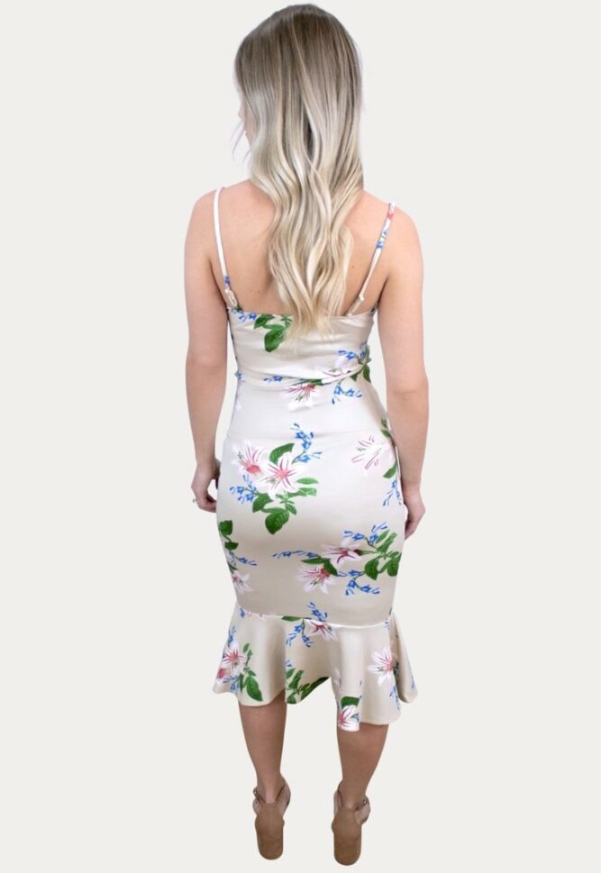 floral flare maternity dress
