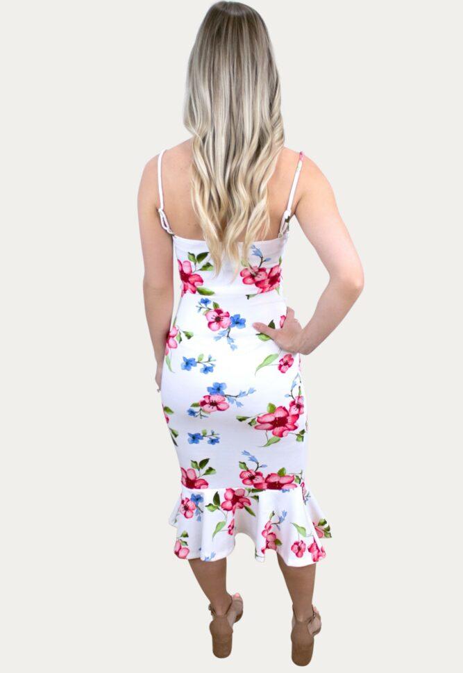 floral ruffle pregnancy dress
