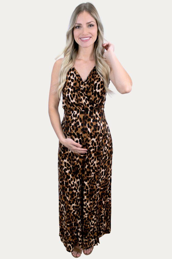 Leopard Tank Pregnancy Maxi
