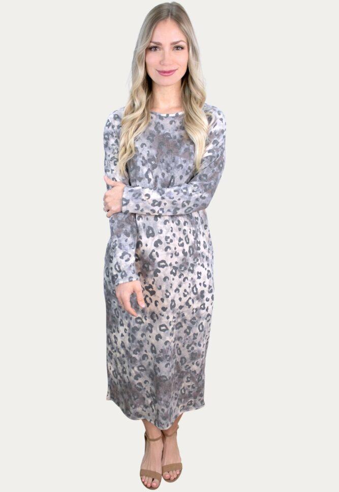 leopard pregnancy maxi