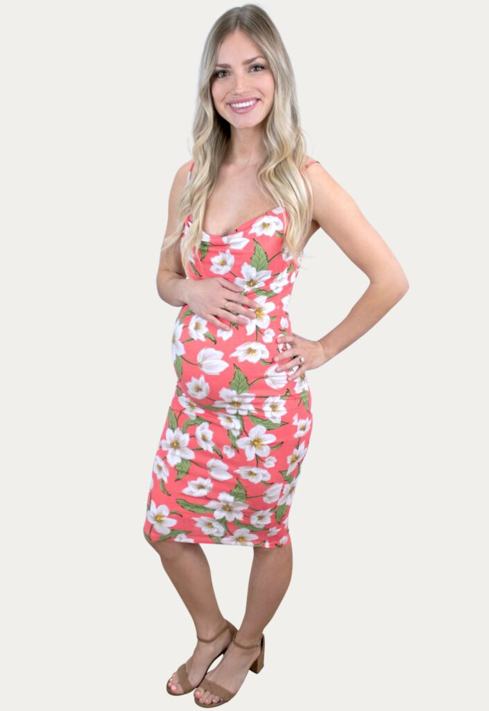 Floral Cowl Neck Pregnancy Dress