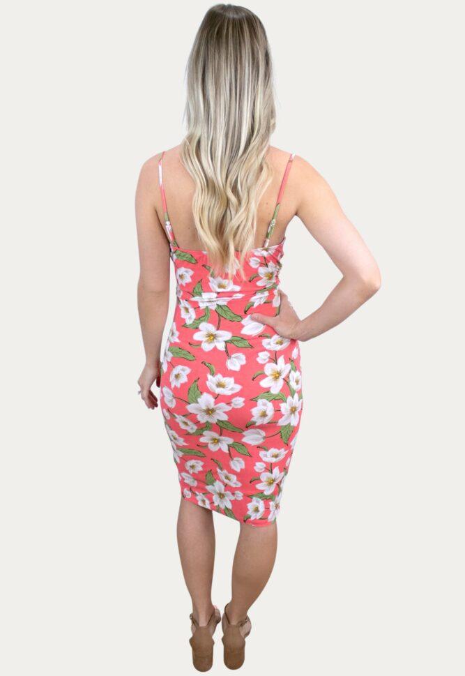 floral cowl pregnancy dress