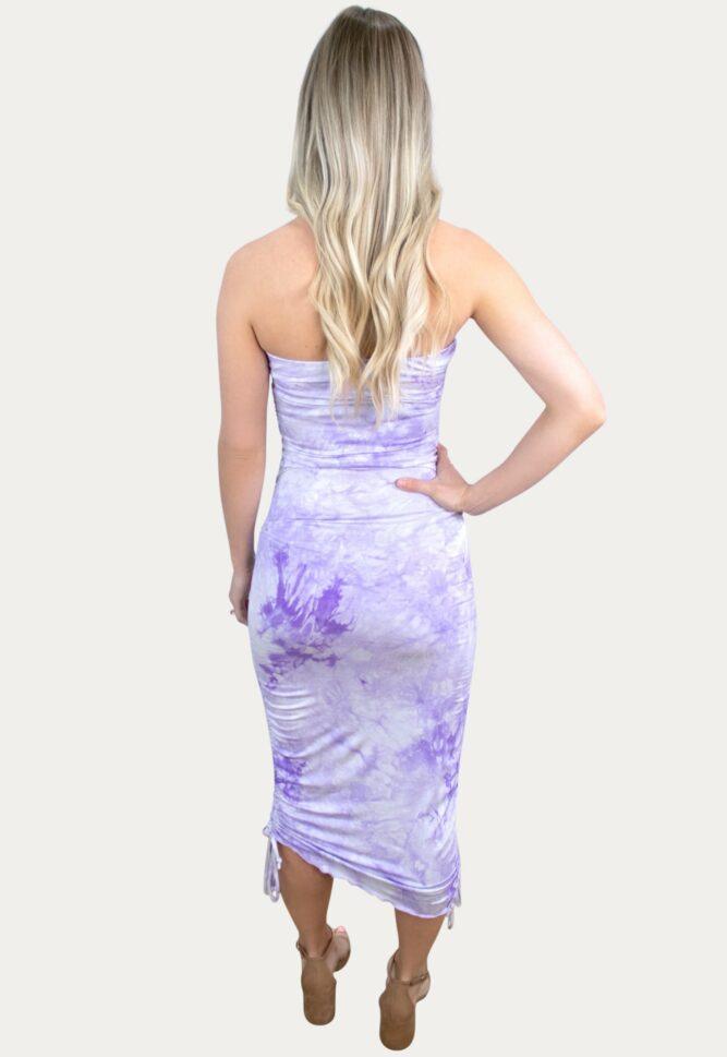 light purple tie dye maternity dress