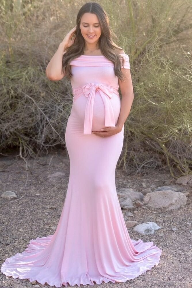 fold over maternity gown