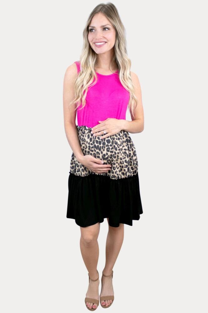 fuchsialeopard maternity dress