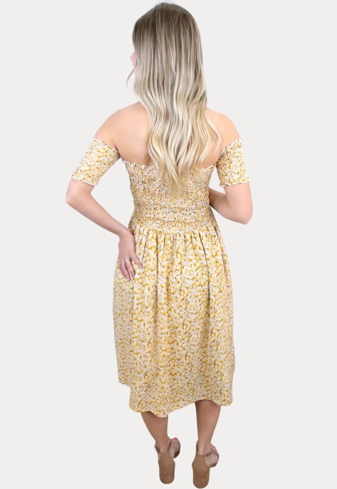 floral smock pregnancy dress