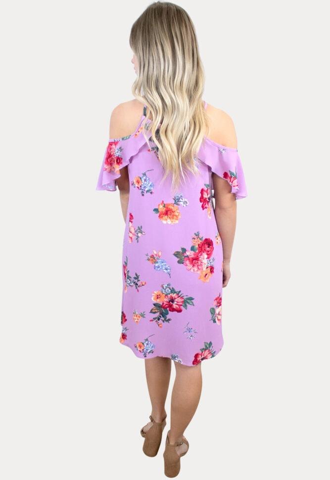floral purple maternity dress