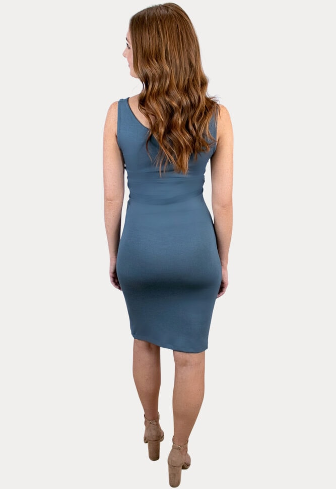 maternity dress with side slit
