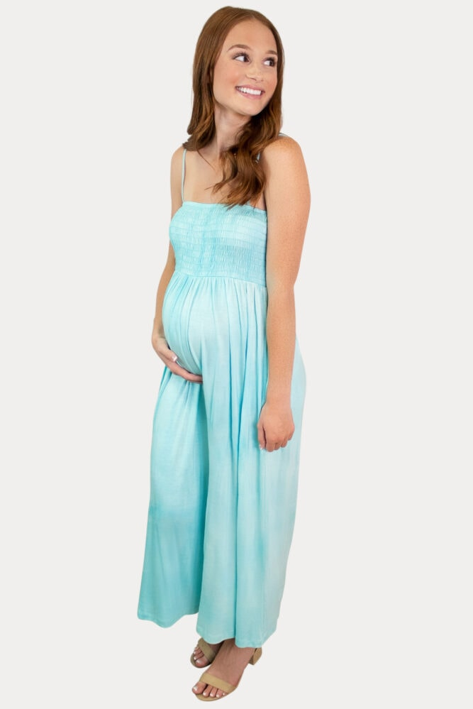 turquoise maternity jumper