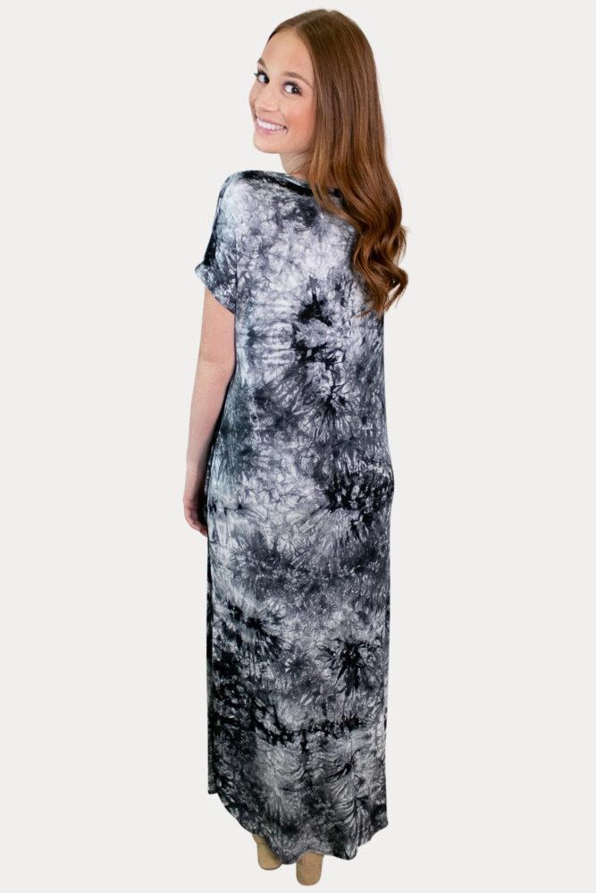tie dye pregnancy maxi dress