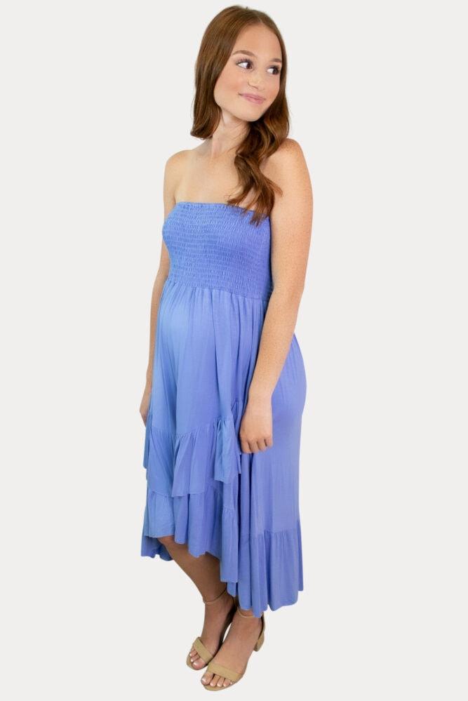 layered maternity dress