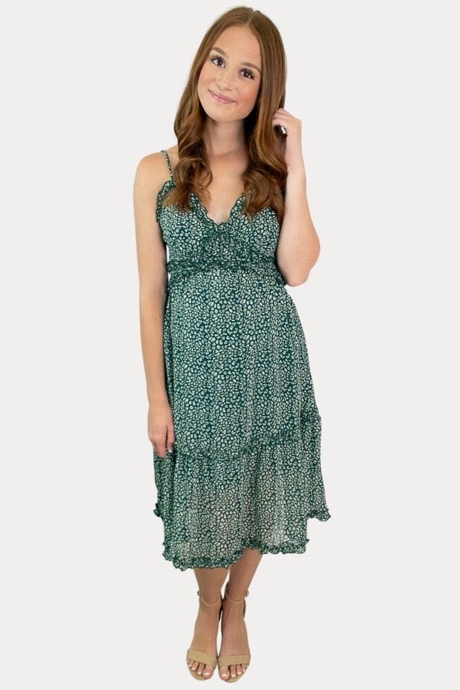 sleeveless pregnancy dress