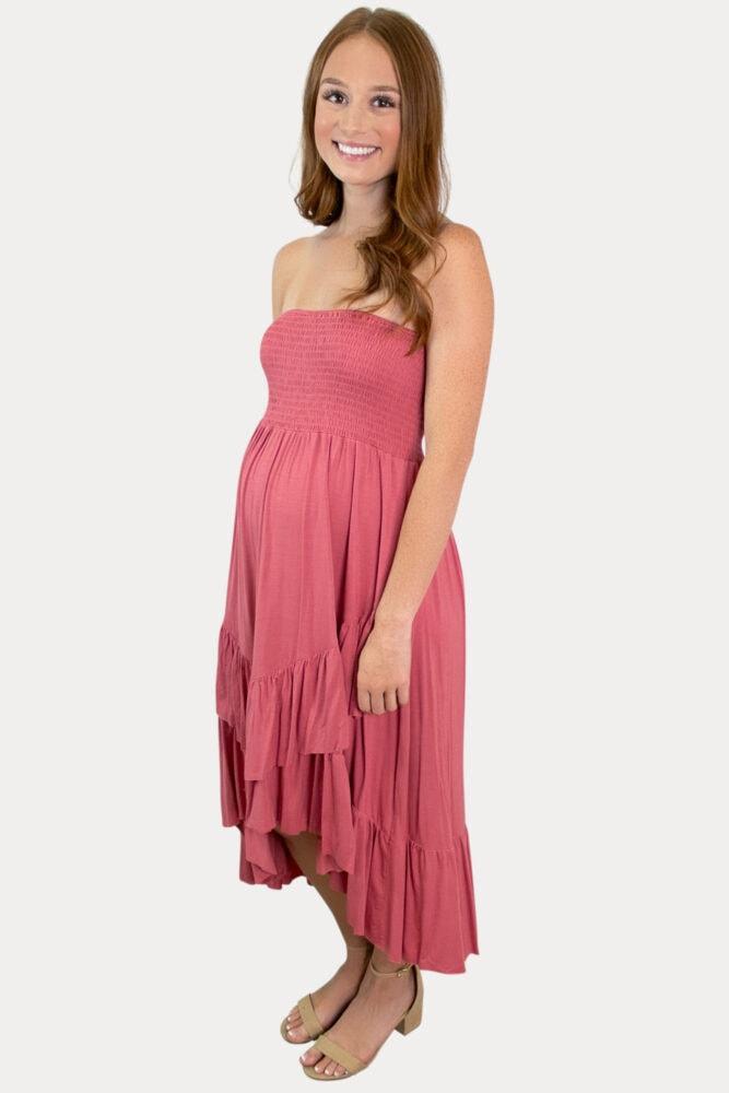 layered pregnancy dress