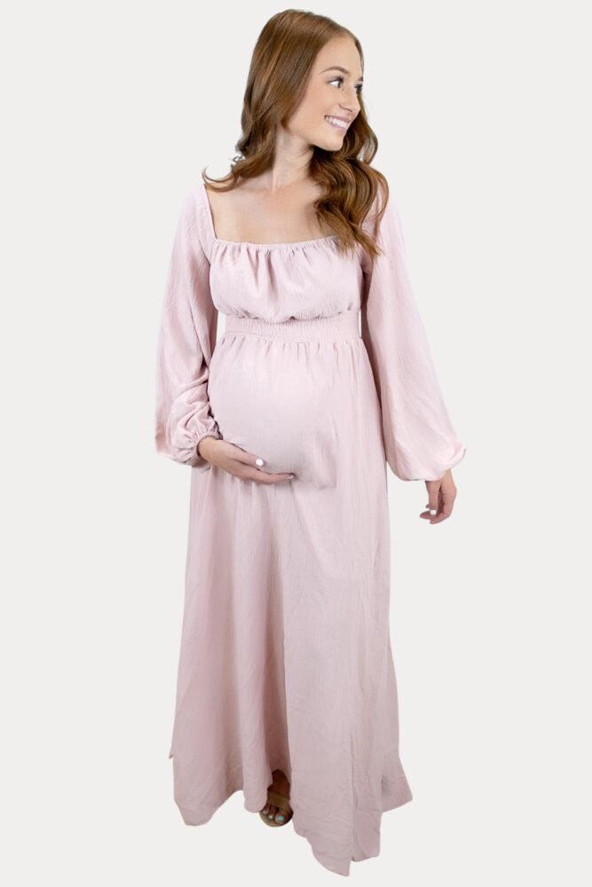 bishop sleeve pregnancy maxi