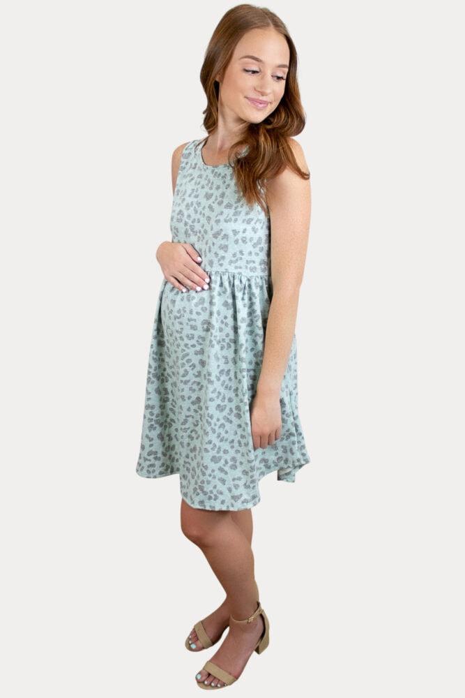 Sleeveless Babydoll Maternity Dress