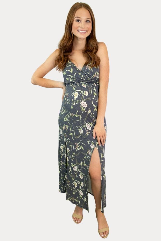 floral sweetheart pregnancy dress