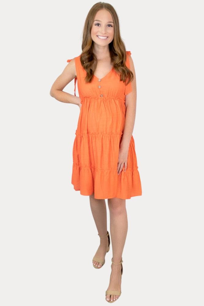tie strap maternity dress