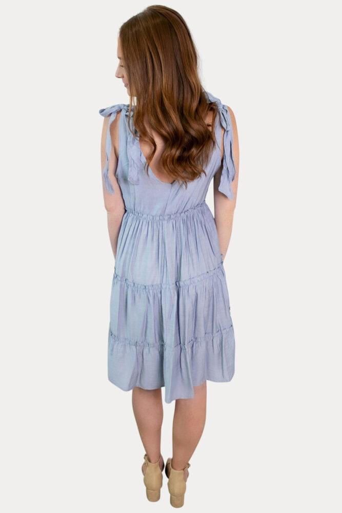 blue strap pregnancy dress