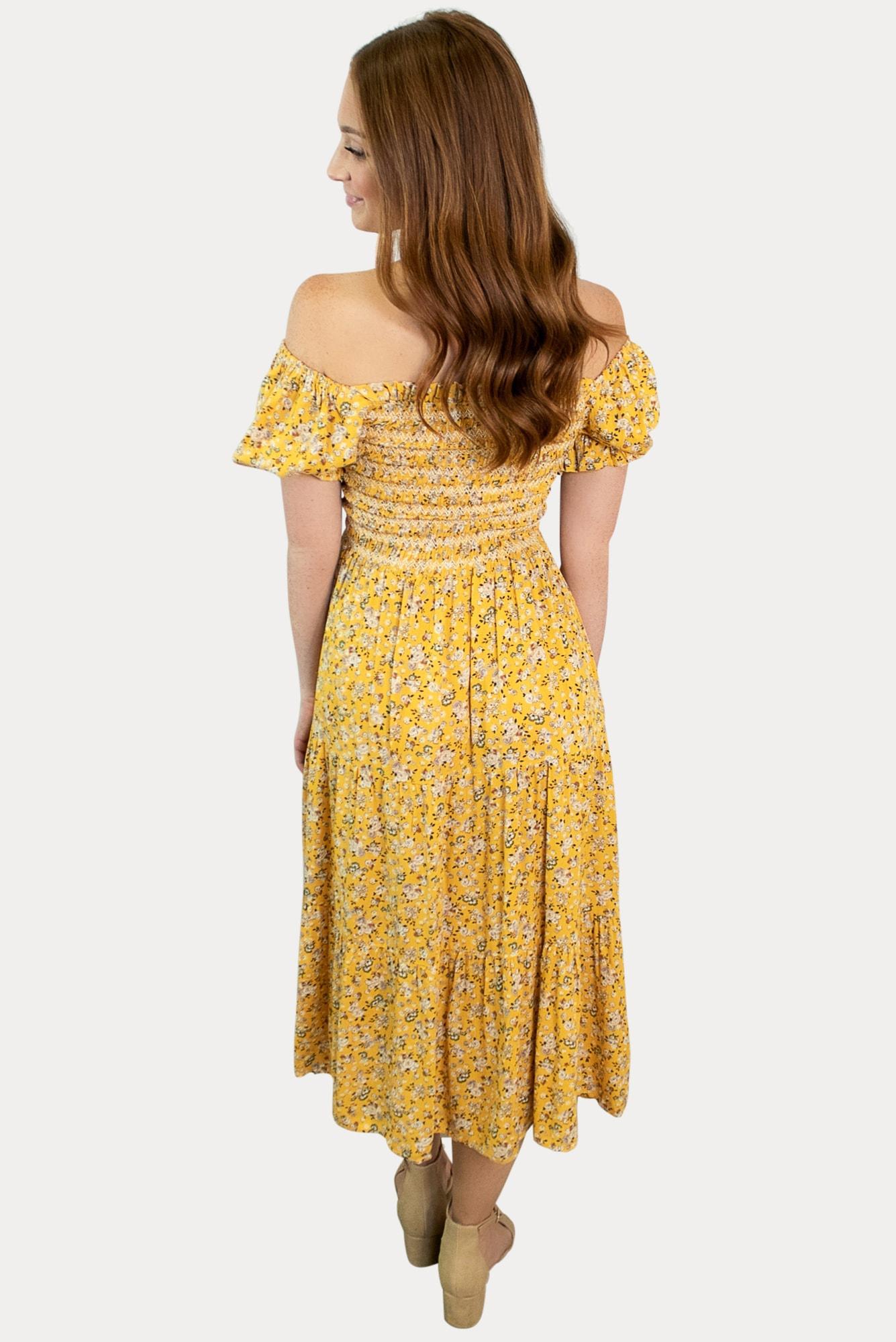 puff sleeve pregnancy dress
