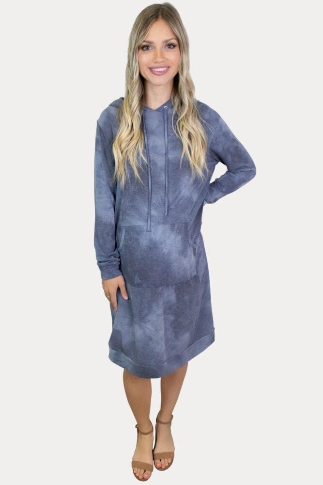 hoodie maternity dress