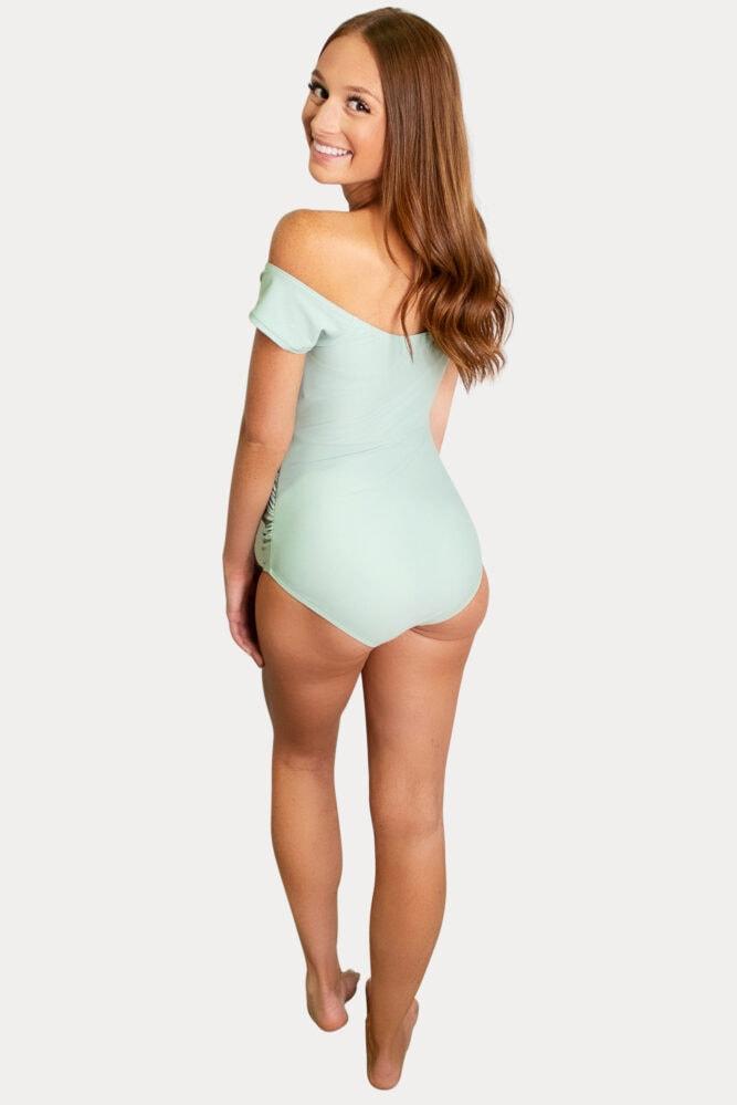 off the shoulder pregnancy swimsuit