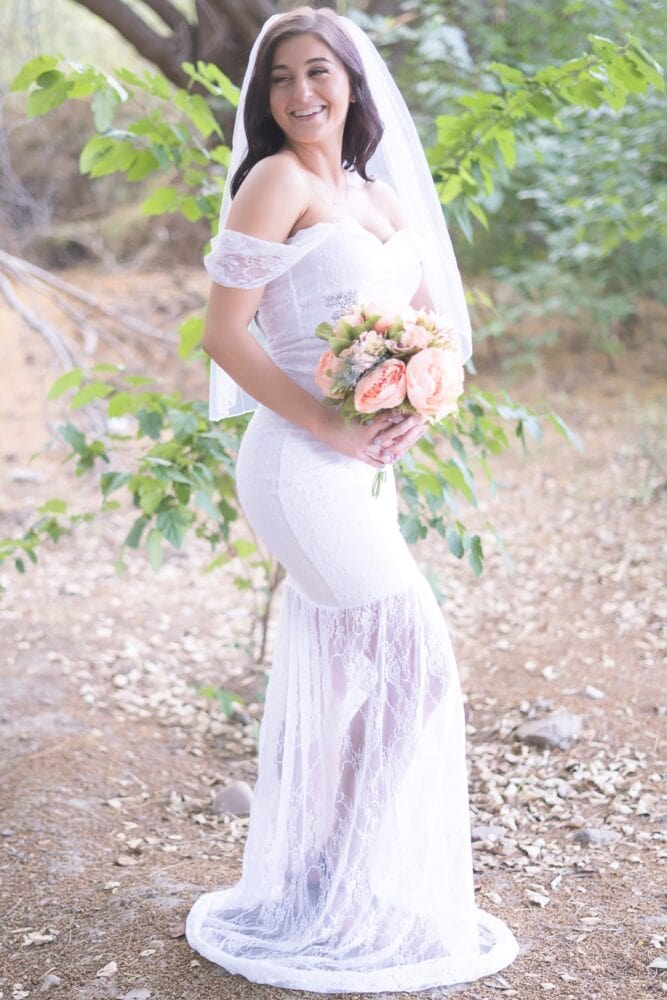 lace pregnancy wedding dress