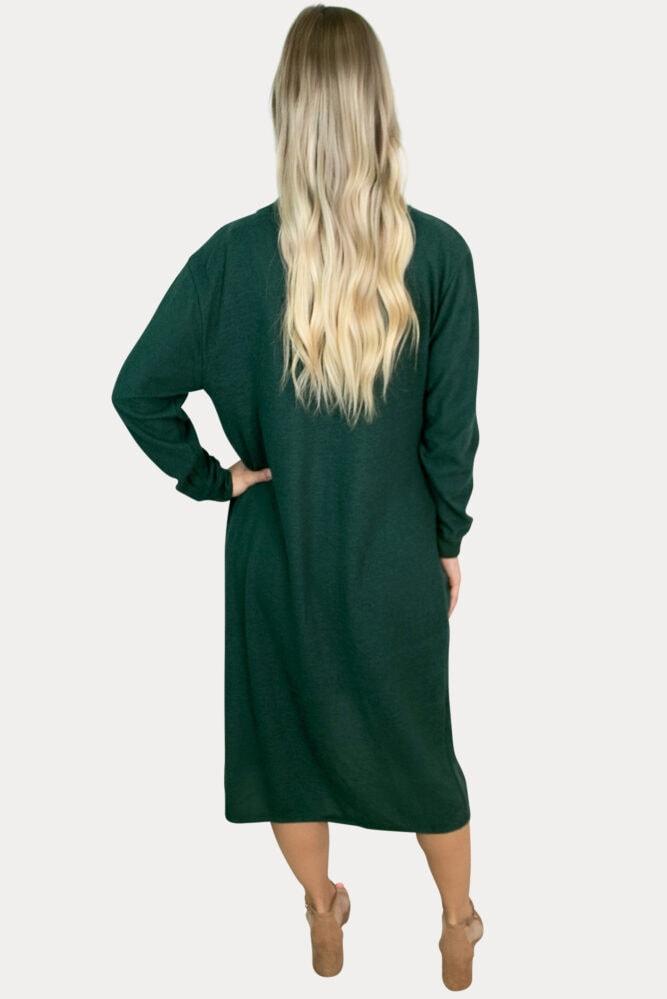 green maternity cardigan