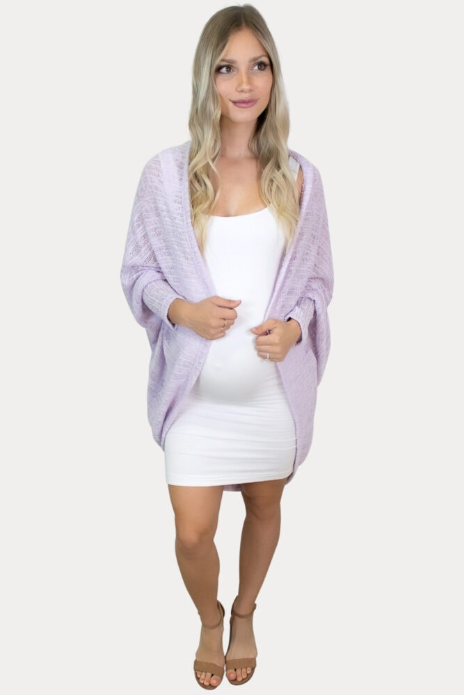 knit maternity shrug