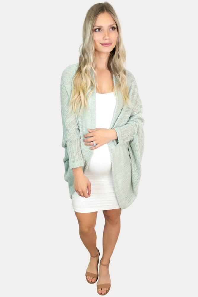 knit pregnancy shrug