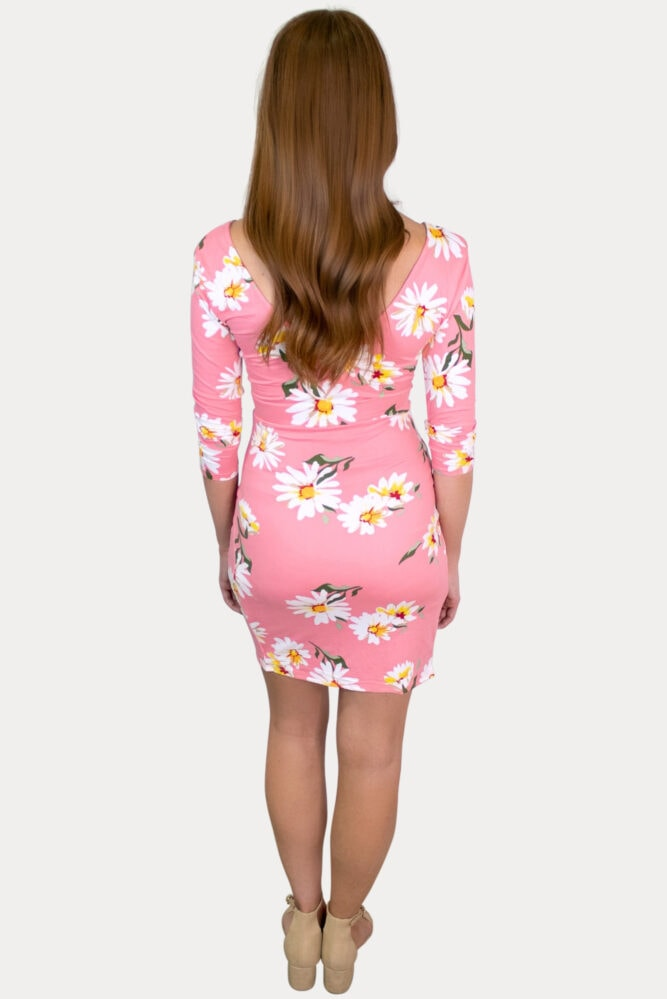 long sleeve sweetheart pregnancy dress