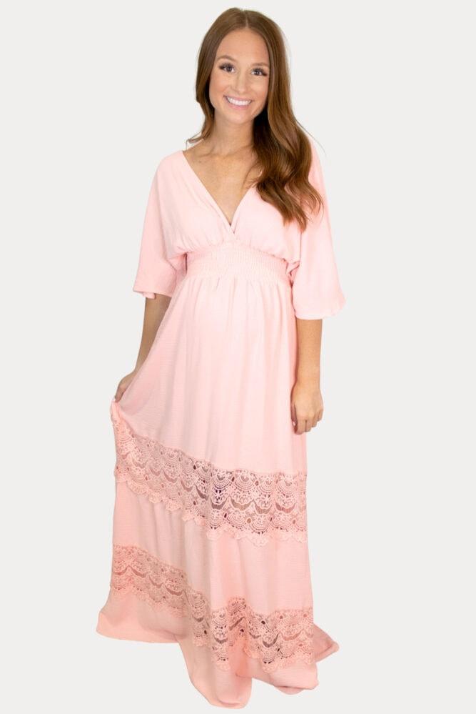 boho pregnancy maxi dress