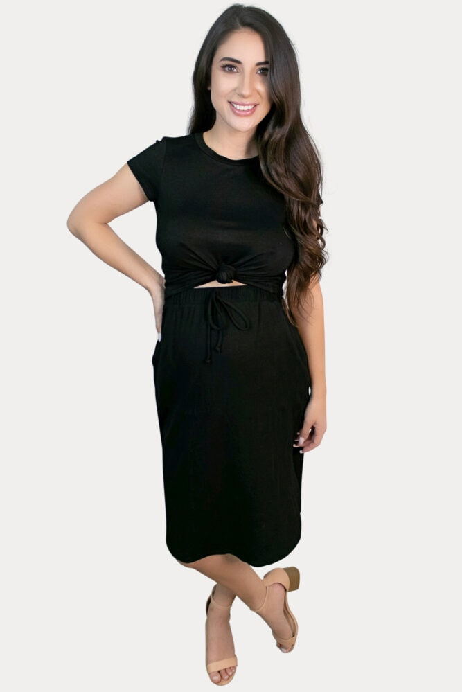 ribbed pregnancy skirt