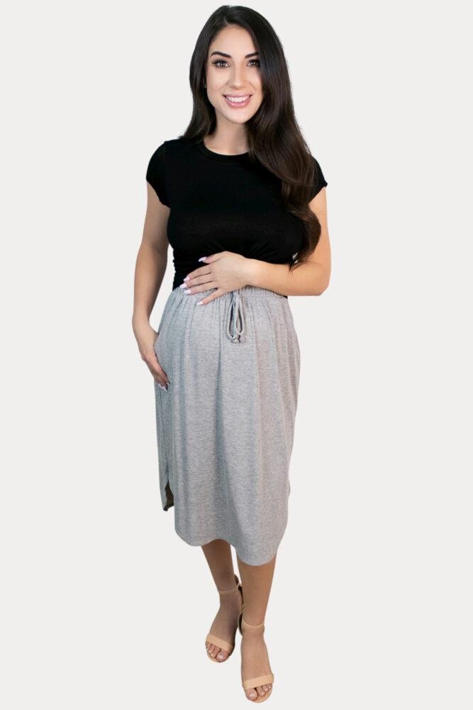 drawstring pregnancy skirt