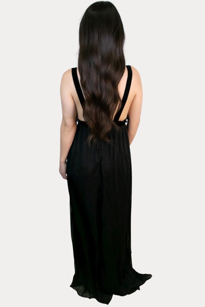 sequin chiffon maternity dress